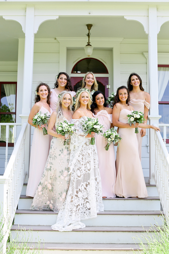 Stunning display of the women at a featured Triple S Ranch wedding.